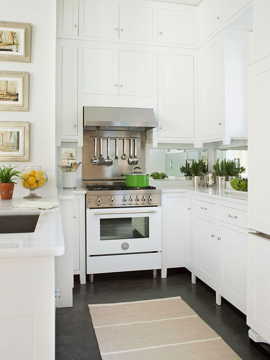 In small kitchens-image via Better Home & Gardens