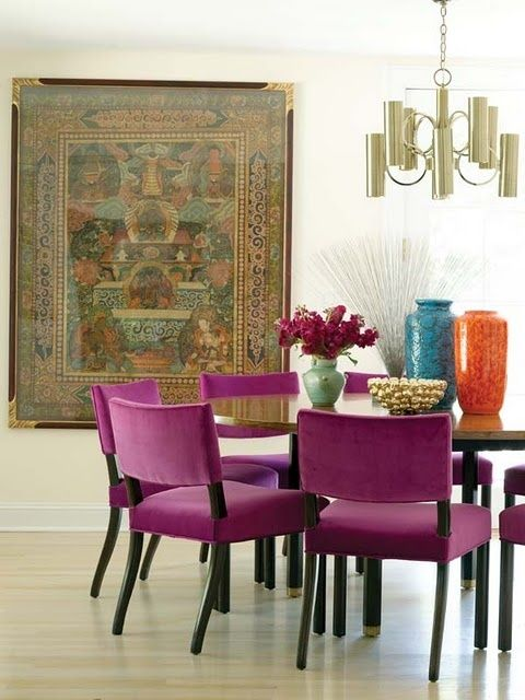 Radiant Orchid by Kristin Gallipoli via NE Home Magazine