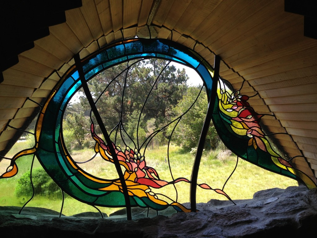Amazing Stain Glass Window in the Sea Ranch Chapel