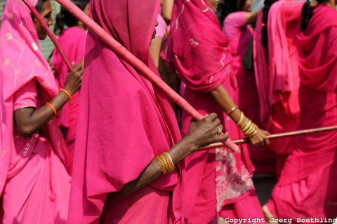 Pink Saris-Women's Movement