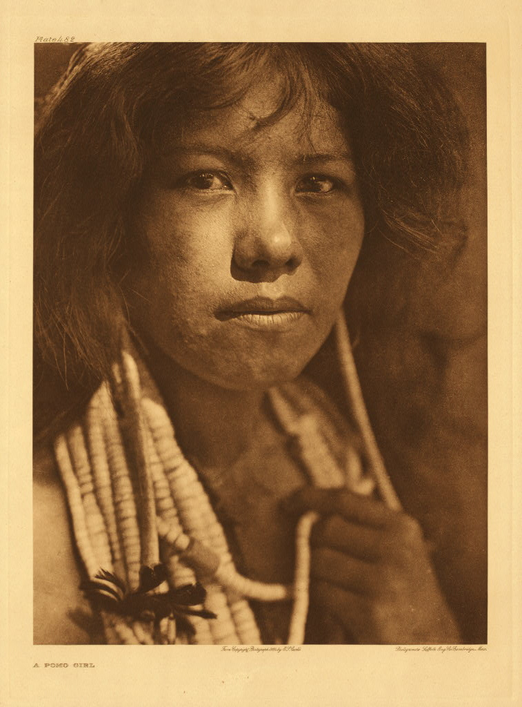 Pomo girl, by Edward S. Curtis from The North American Indian
