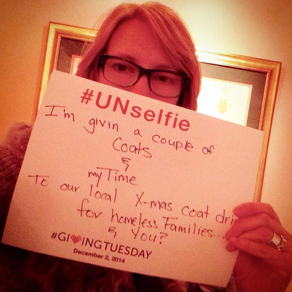 That would be me:#GivingTuesday #UNselfie