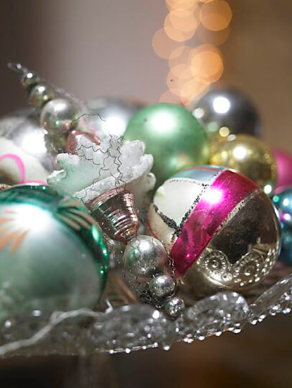 Christmas Tree Traditional Vintage Ornaments-image via By Mildred