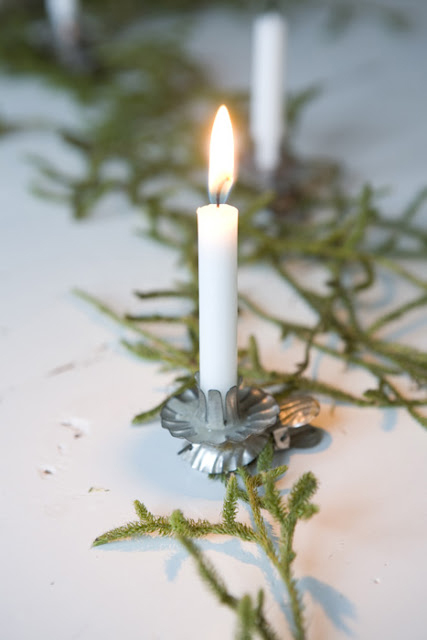 Christmas Tree Tradition used real candles to light the tree originally-image via Johanna Vintage