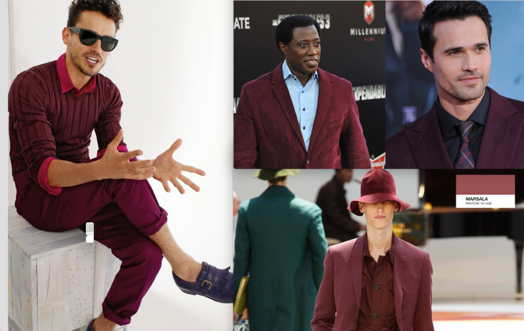 Men's Fashion Marsala