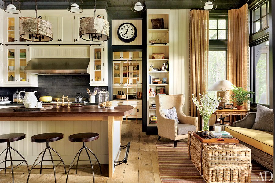 What's Hot in Luxury Real Estate: #2 Open Kitchens Sonoma Style™-image via Architectural Digest designed by Thom Filicia