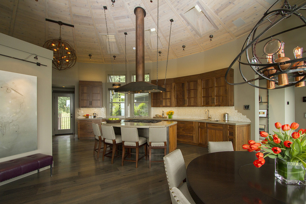 "Custom cabinets with magnificent concrete countertops luxurious estate for sale in Occidental, the new ""sweet spot"" of Sonoma's West County."
