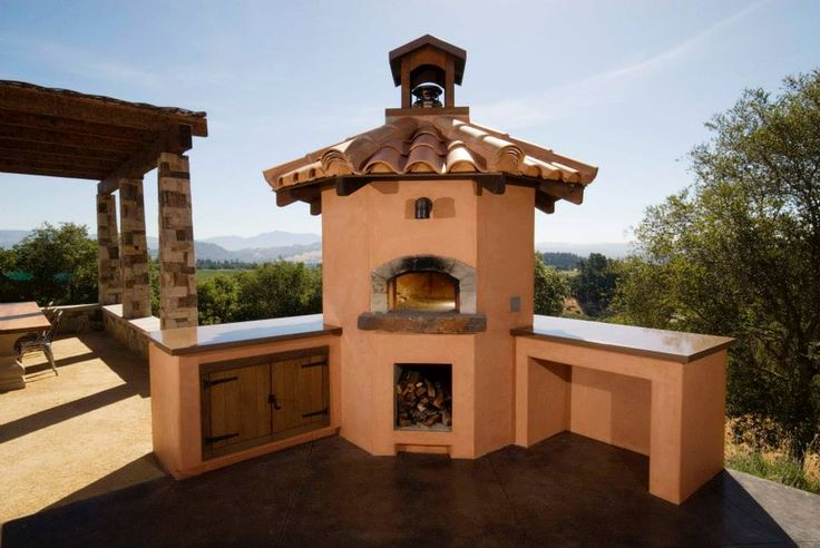 out door pizza oven-image via Bohemian Stone