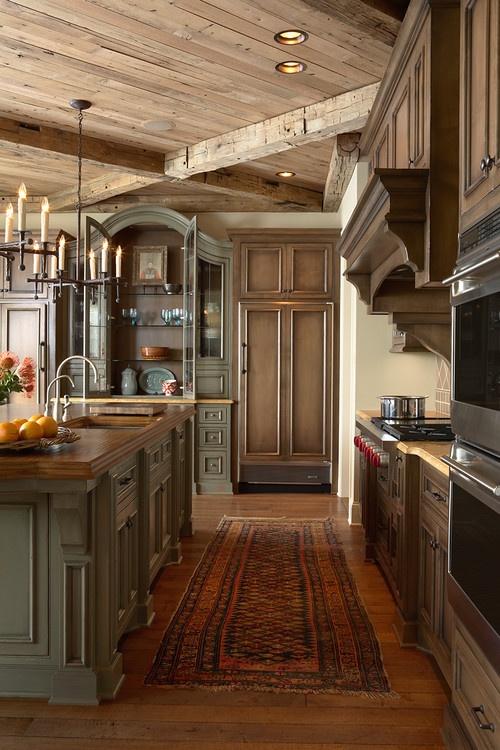 designing a kitchen around an antique piece of furniture-image via Georgiana Design