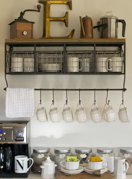 storage for coffee or tea and supplies-image via Home Room Idea