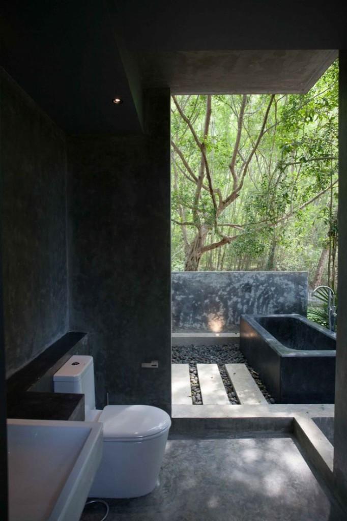 Black Bathrooms-image via Home design