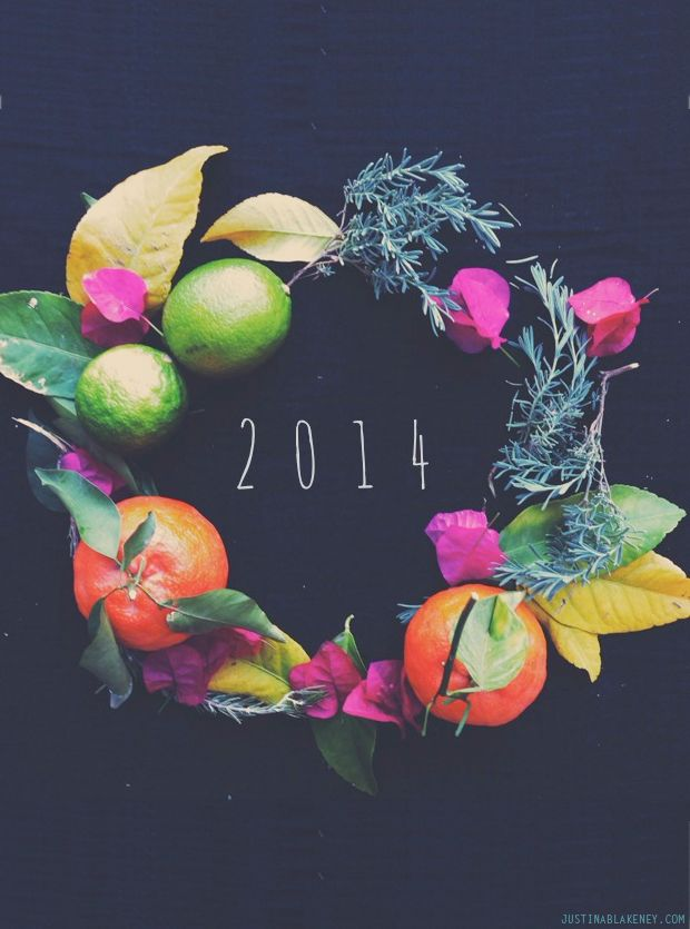 Wishing you a Happy New Year-2014-image via Justina Blakeney's blog