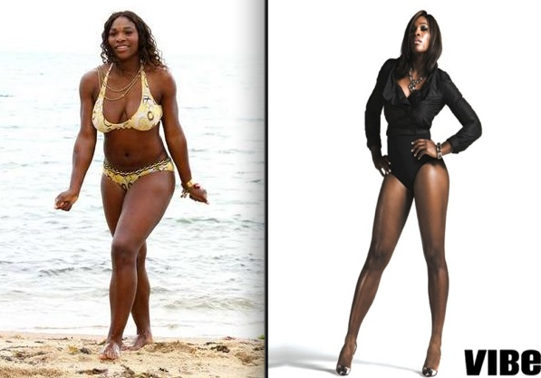 Serena Williams, perfectly fit and beautiful naturally, into-image via Hello Beautiful