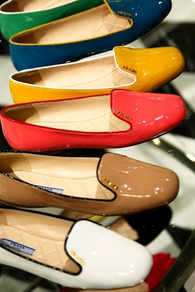color as an accessory like a bag, scarf or this Prada loafer?-image via Style Saint