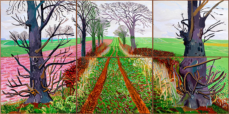David Hockney image via Classic Driver from his British exhibition