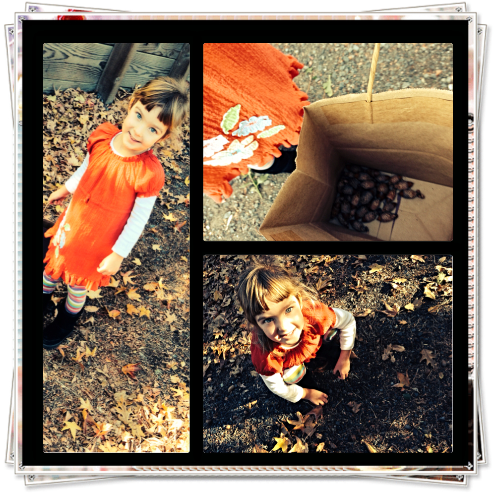 Ardyn & YaYa gathering leaves for the Thankful Tree-our Thanksgiving Decor!