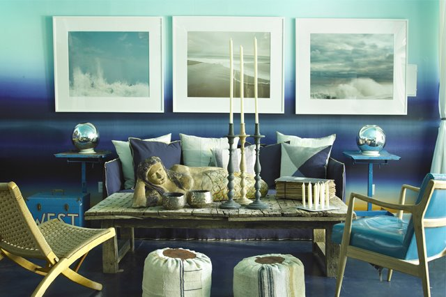 Shades of Blue-Via Santa Rosa Interior Design