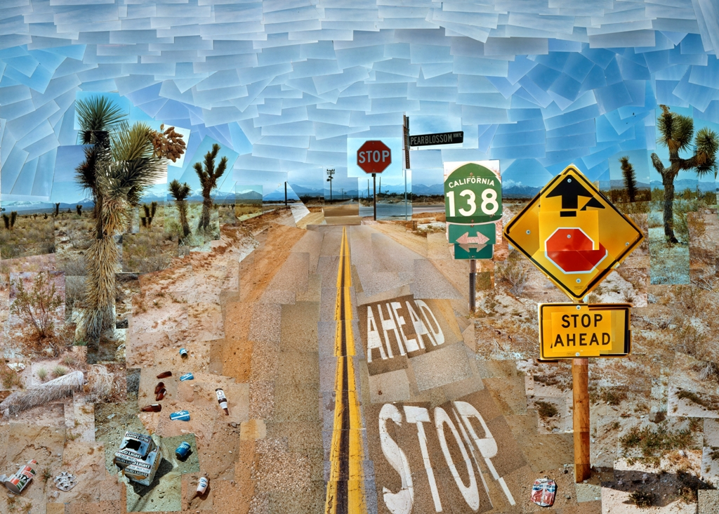 David Hockney records his road trip through the west with his Polaroid-image via the UK Telegraph