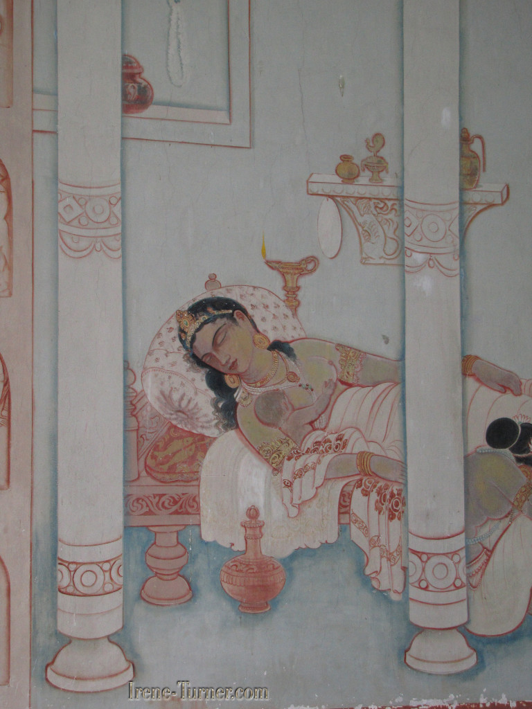 The Birth of Buddha, one of the marvelous murals at Sarnath Deer Park