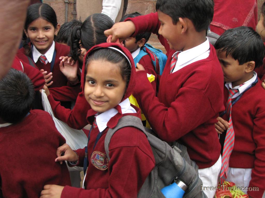 School Children visiting Sarnath, outside of Varanasi
