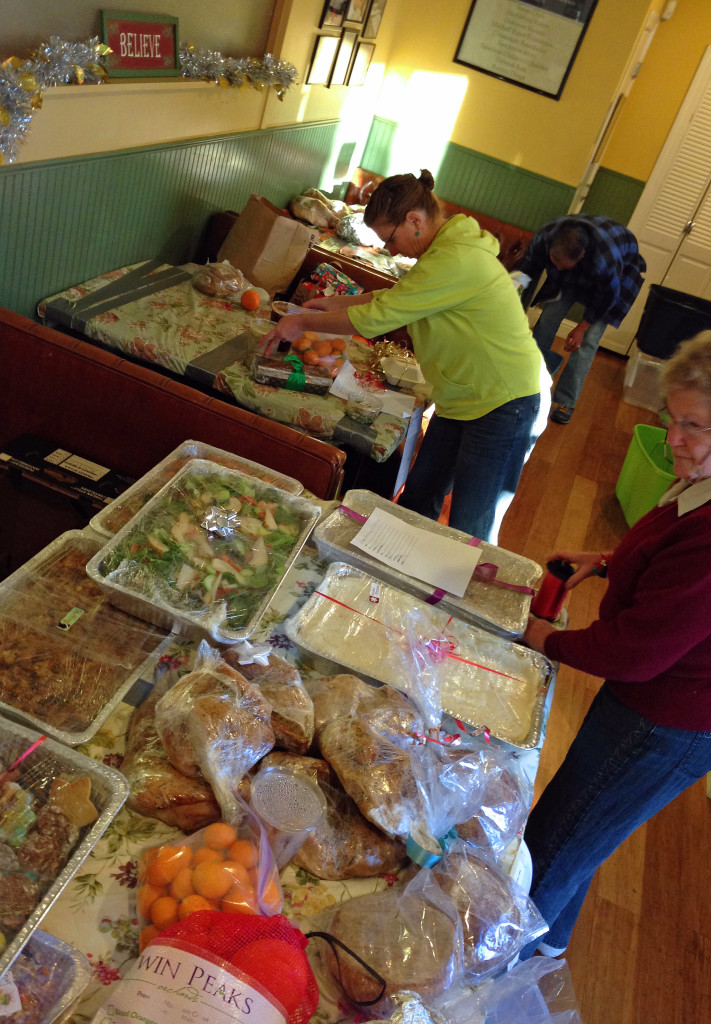 Over 500 meals are prepared, wrapped and delivered by volunteers who support Evelyn's vision and WOW