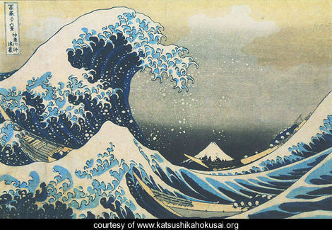 Mount Fuji Seen Below a Wave at Kanagawa Japanese Influence is Global Part 1 Art