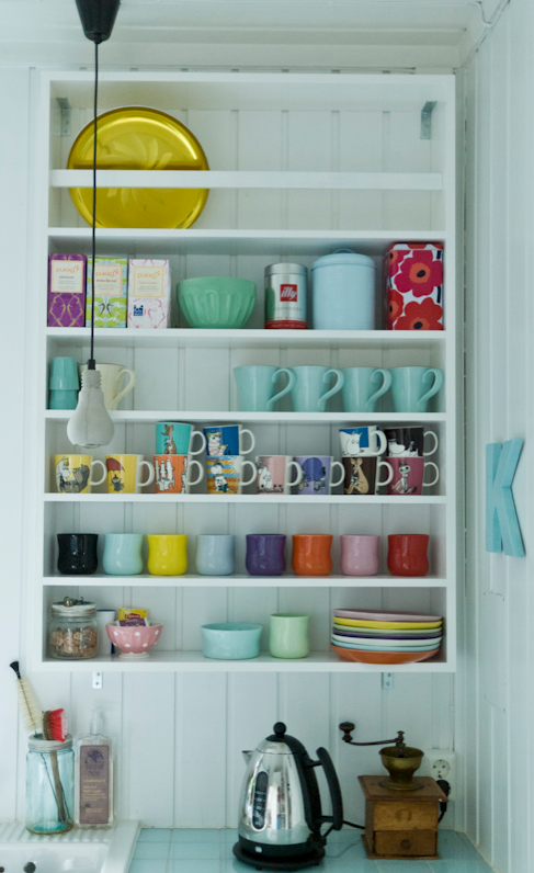 A place for your cups, saucers and supplies-image via Lille Lykke blog