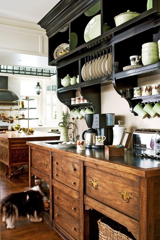 Coffee or Tea station separate from cooking area-image via Deborah Jeans Dandelion House