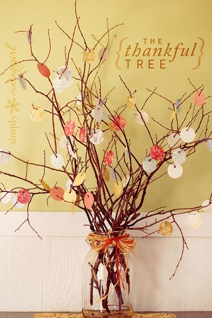 Thankful Tree-Thanksgiving Decor