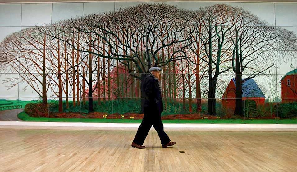 David Hockney bigger then life pieces-image via Shapes of the 80s