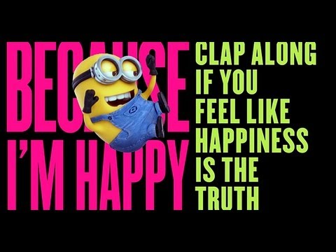 image from the Despicable Me 2 Happy video-click the link to see the lyrics and the video