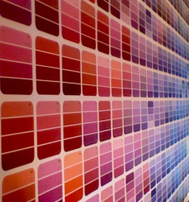 paint chip wall 7 Tips to Choosing Paint Colors Sonoma Style