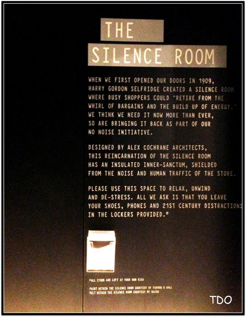 On the door to the Silence Room-image courtesy of The Daily Out