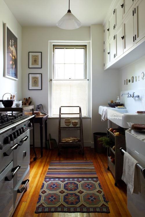All the same element as in a larger kitchen-image via design sponge
