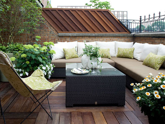 terrace garden balcony Outdoor Living Space Sonoma Style