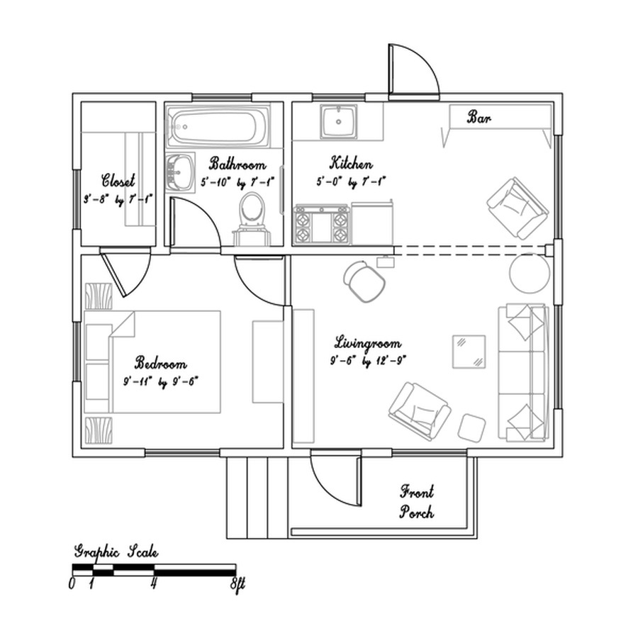 The Floor Plan-image via Small House Bliss